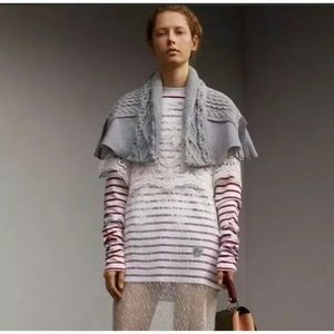Burberry Cable Knit Cape Cotton Jersey Italy